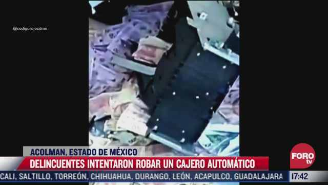 delincuentes explotan cajero automatico en acolman edomex