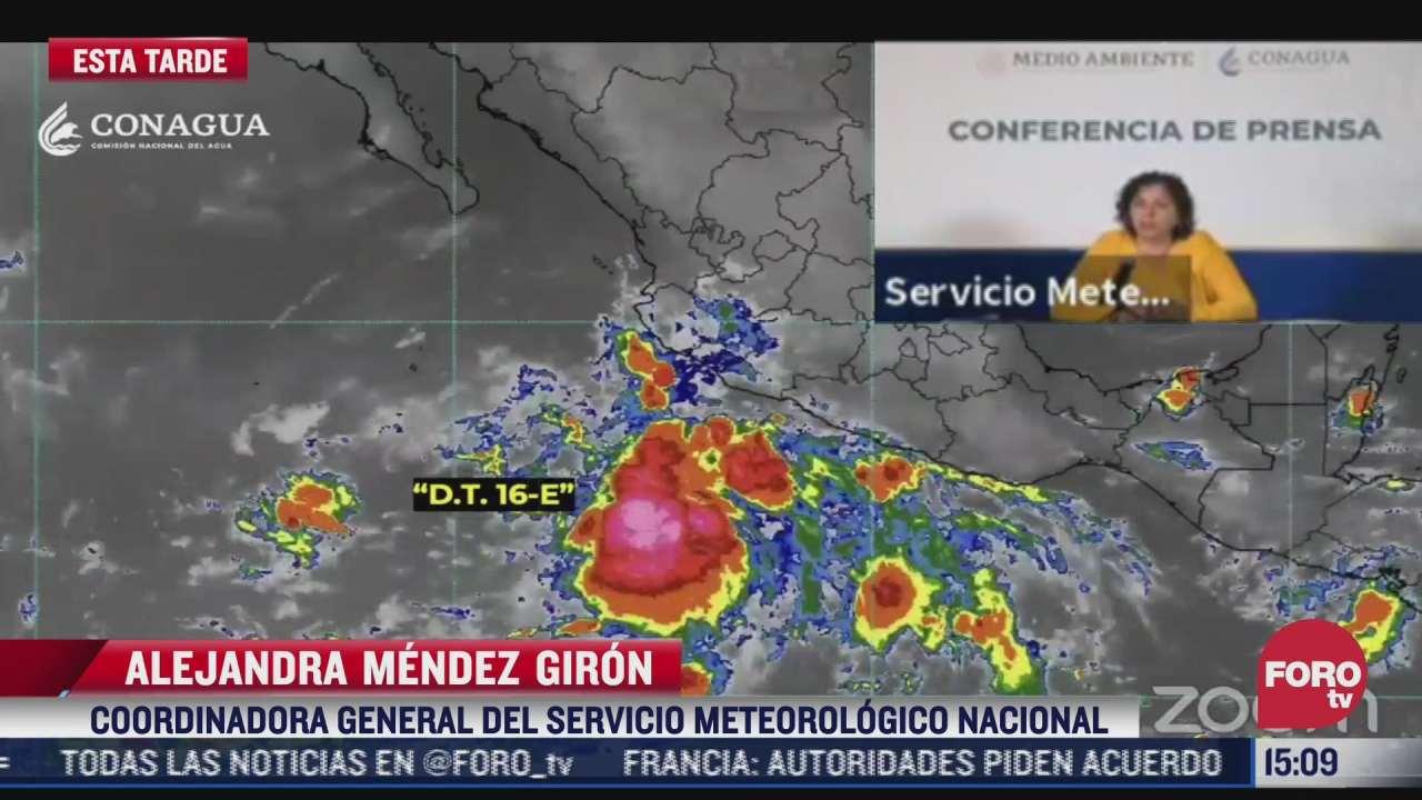 depresion tropical 16 e sera huracan categoria 1 manana