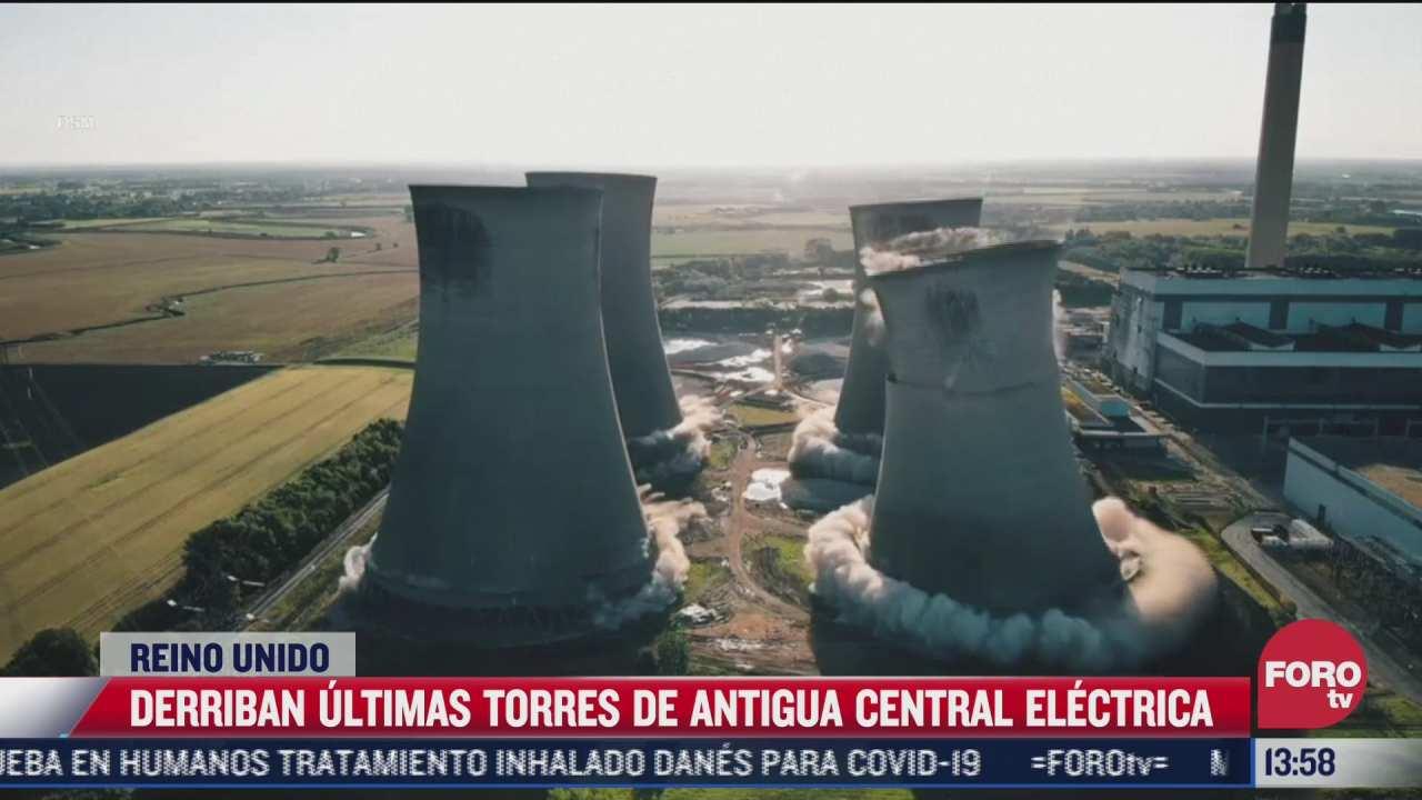 derriban torres de antigua central electrica en reino unido