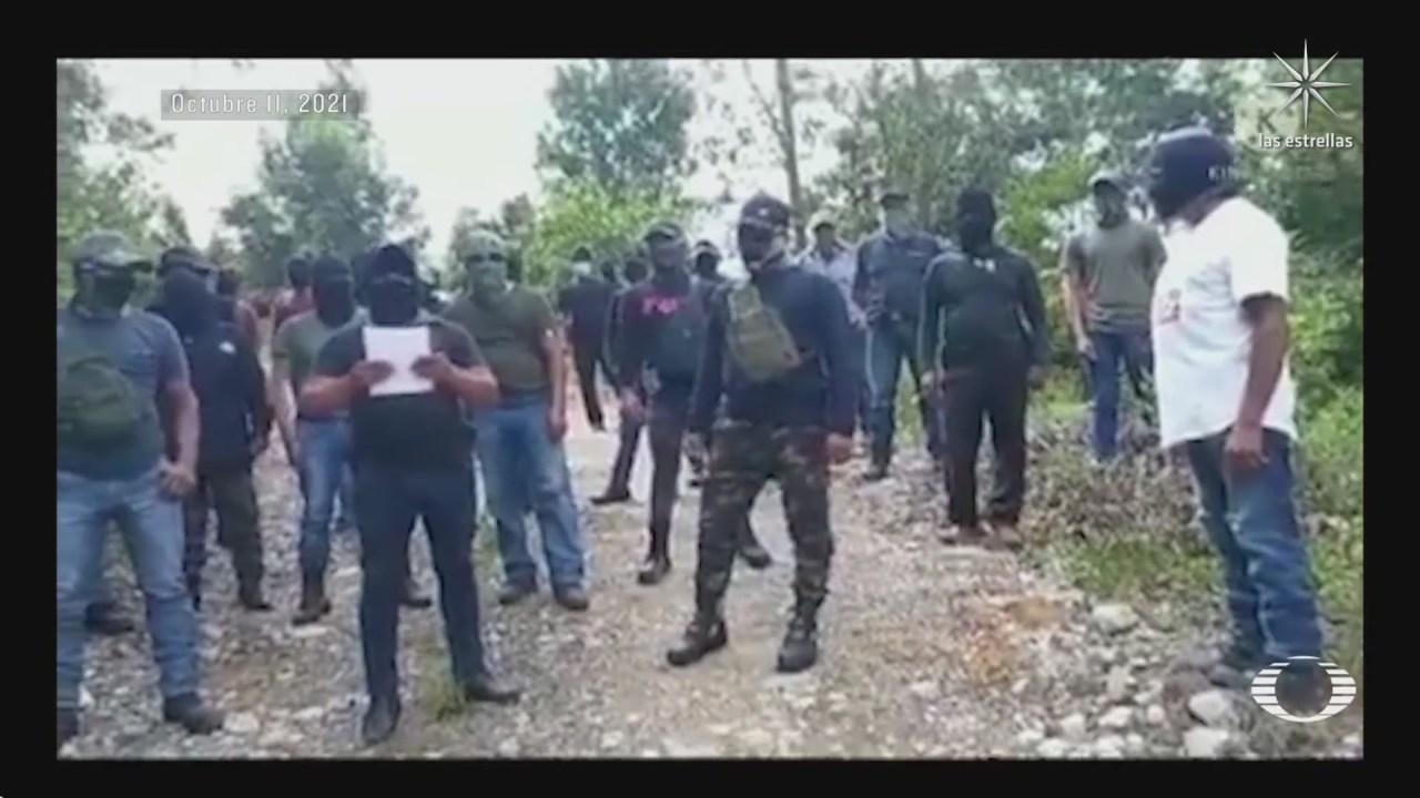 difunden video de nuevo grupo civil armado de santa martha chenalho