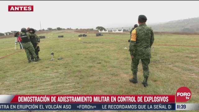 ejercito mexicano realiza demostracion de adiestramiento militar en control de explosivos