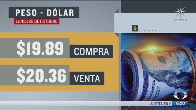 el dolar se vendio en 20 36 en la cdmx del 25 oct