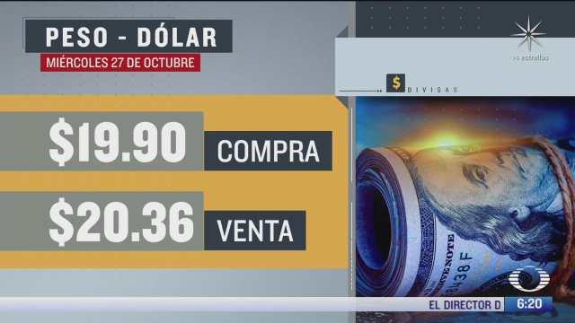 el dolar se vendio en 20 36 en la cdmx del 27 oct