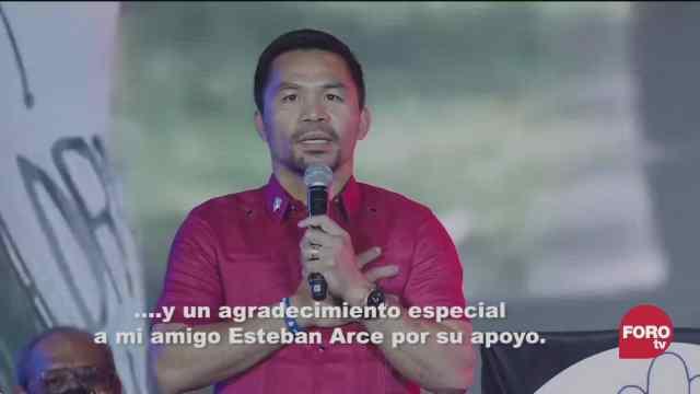 el famoso boxeador filipino manny pacquiao va a la politica