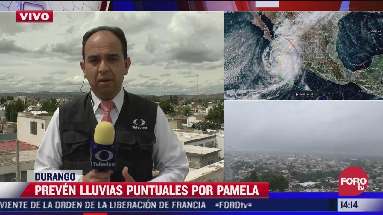 en durango se alistan por llegada de huracan pamela