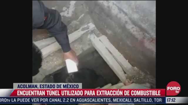 encuentran tunel con toma clandestina de hidrocarburo en acolman