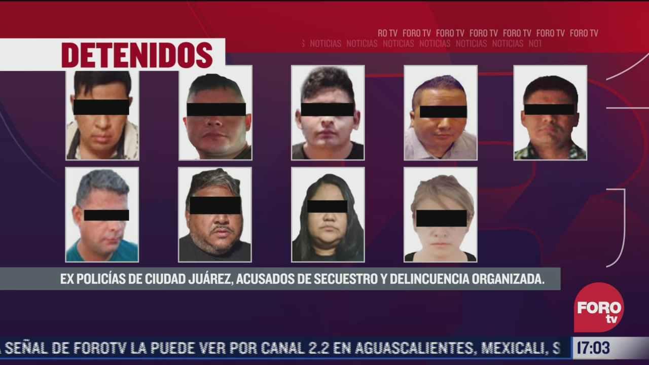 fgr detiene a nueve policias y expolicias acusados de secuestro en cd juarez