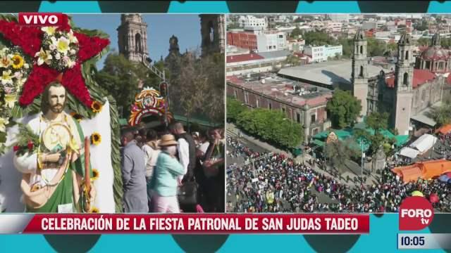 fieles celebran la fiesta patronal de san judas tadeo