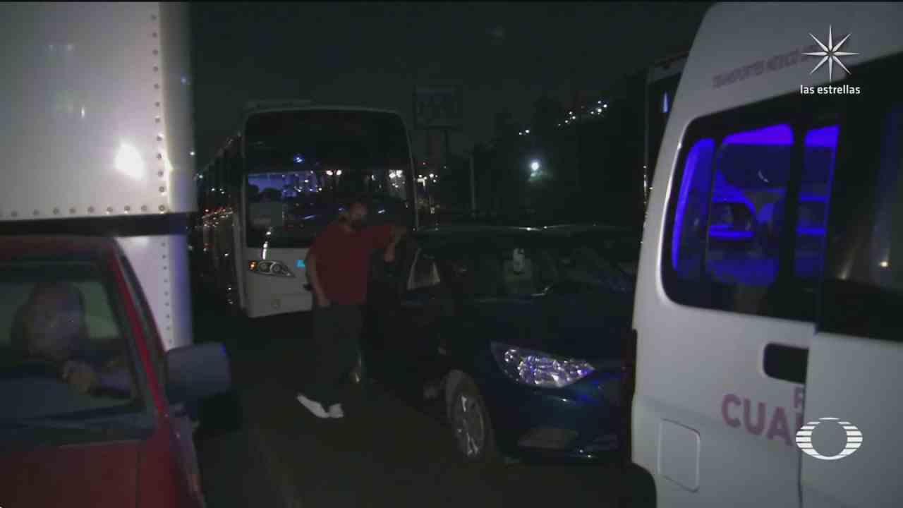 gaseros bloquean por mas de cinco horas la mexico pachuca