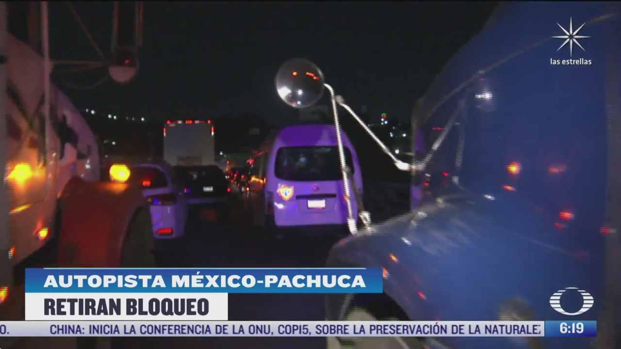 gaseros retiran bloqueo en la autopista mexico pachuca