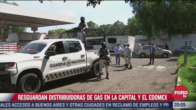 guardia nacional resguarda estaciones surtidoras de gas