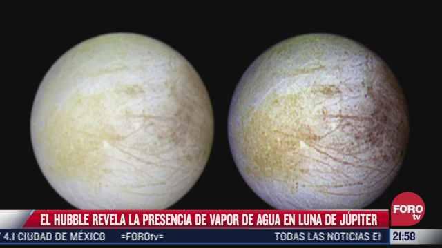 hubble revela presencia de vapor de agua en luna de jupiter