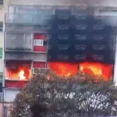 Se incendia edificio de departamentos en Cuajimalpa, CDMX