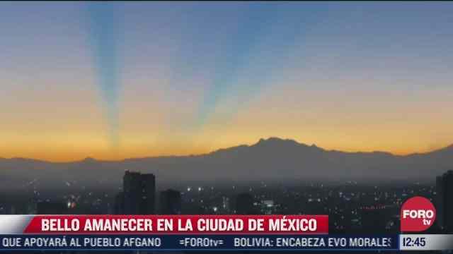 la ciudad de mexico despierta con espectacular vista