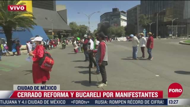 manifestantes triquis cierran paseo de la reforma y bucareli cdmx