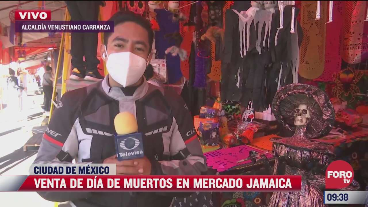 mercado de jamaica ofrece productos para el dia de muertos