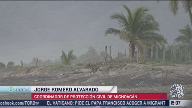 michoacan se prepara para el impacto del huracan rick