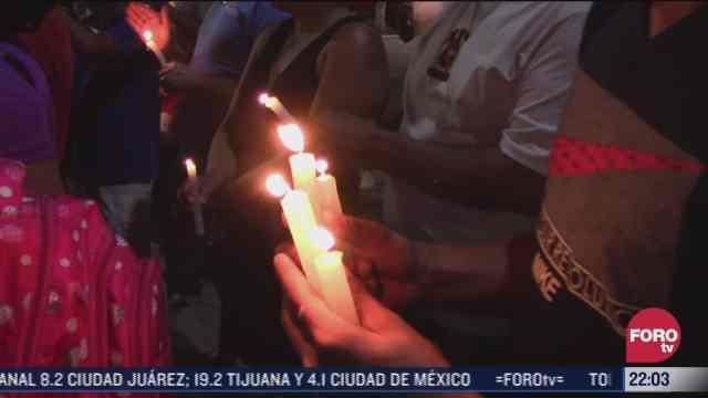 migrantes realizaron vigilia en tapachula chiapas