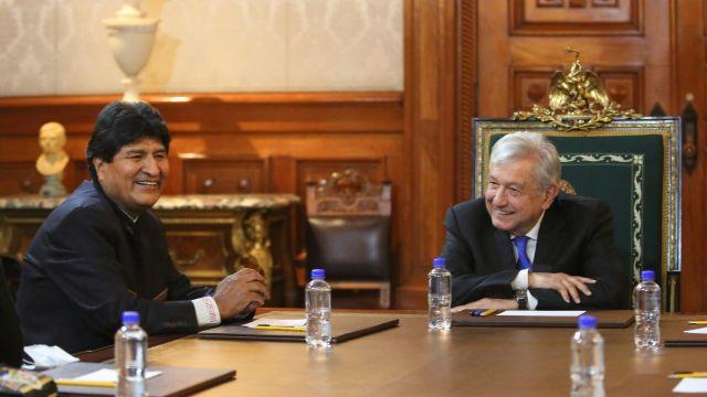 El presidente de México, Andrés Manuel López Obrador, se reunió con Evo Morales, expresidente de Bolivia, quien se encuentra en el país (Cuartoscuro)