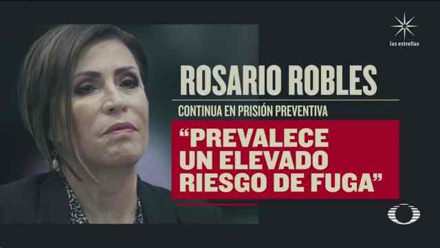 niegan libertad a rosario robles