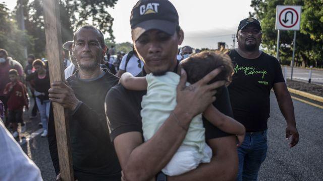 Integrantes de la caravana migrante que se dirige a la CDMX (Cuartoscuro)