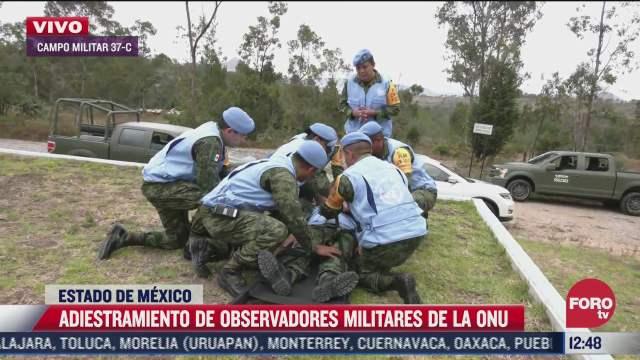 observadores de la onu realizan tareas de adiestramiento con el ejercito mexicano