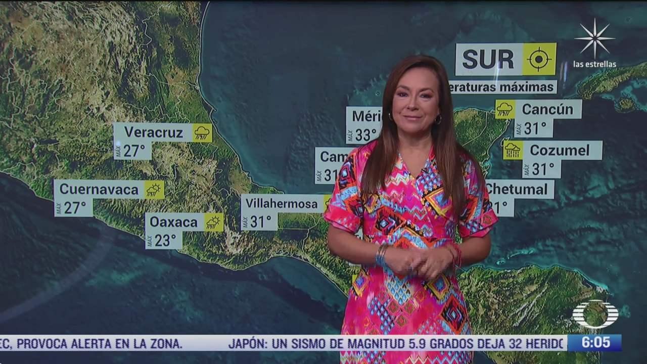 onda tropical 35 y frente frio 2 afectaran el sureste y oriente de mexico del 8 oct