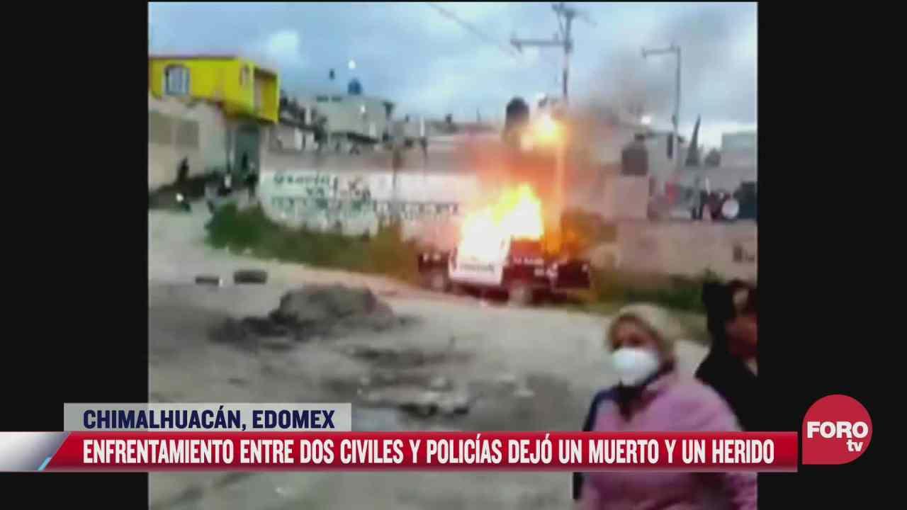 policias disparan a joven en chimalhuacan pobladores los retienen