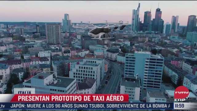 presentan prototipo de taxi aereo electrico