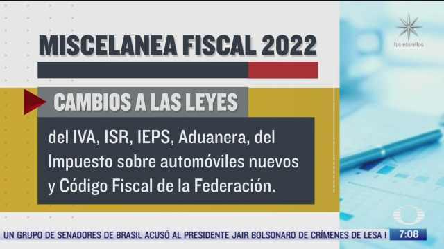 que incluye la miscelanea fiscal