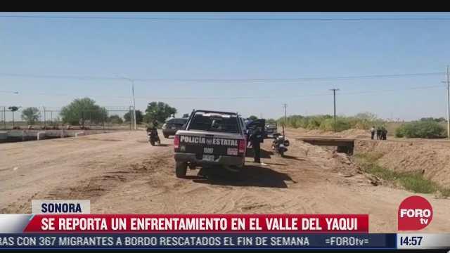 reportan enfrentamiento en valle del yaqui sonora