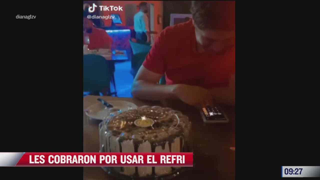 restaurante cobra cien pesos a pareja por guardar pastel en el refrigerador