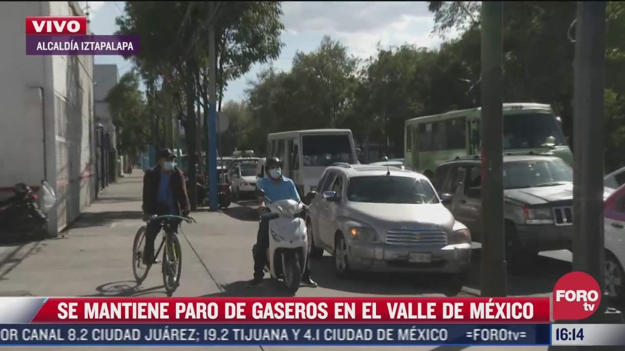 se mantiene paro de gaseros en el valle de mexico