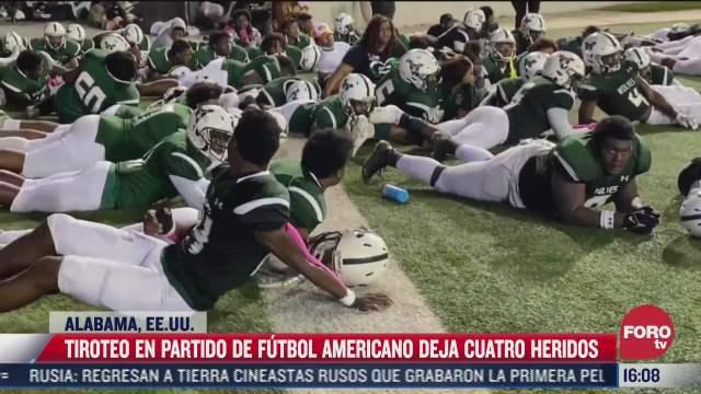 se registra tiroteo en partido de futbol americano en alabama