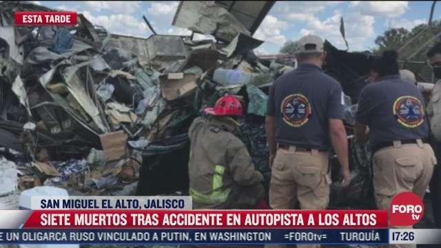 siete muertos deja choque e incendio entre vehiculos en autopista a los altos