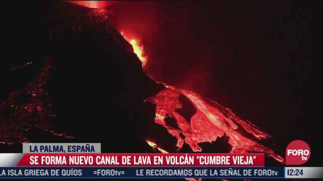 surge nuevo canal de lava por erupcion del cumbre vieja