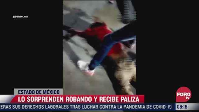 vecinos golpean a ladron en coacalco estado de mexico