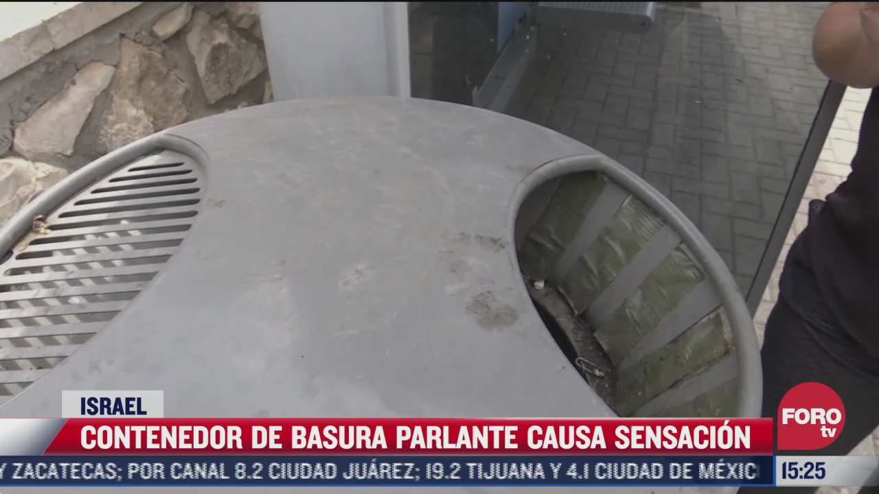 video bote de basura parlante causa sensacion
