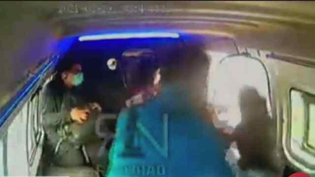 Video: Captan nuevo intento de asalto a combi en Naucalpan.