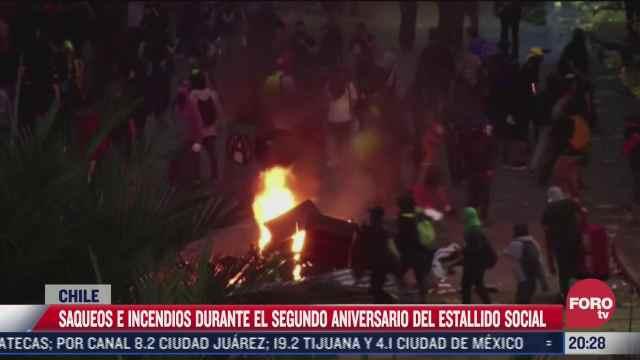 violentas protestas en chile a dos anos del estallido social