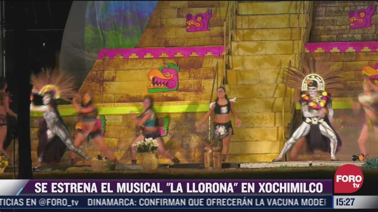 xochimilco estrena musical al aire libre de la llorona
