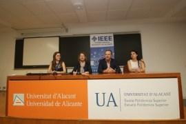 Laura Sánchez. Presidenta IEEE UA Andrés Montoyo Nuria Grané