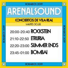 arenal sound horaris