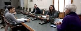 VALENCIA 2020-03-24 L'alcalde de València, Joan Ribó, convoca la Comissió de Seguiment del COVID-19, amb la presència dels vicealcaldes Sandra Gómez i Sergi Campillo.