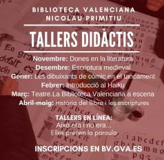 tallers literaris biblioteca valenciana