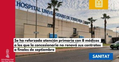 """Sanitat assenyala que els centres de salut i consultoris auxiliars de el departament de Torrevella funcionen amb """"normalitat"""" en el primer dia d'atenció"""
