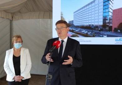 Ximo Puig anuncia una inversió de 104 milions d'euros per a les obres dels nous edificis de consultes externes i ingressos de l'Hospital Clínic de València