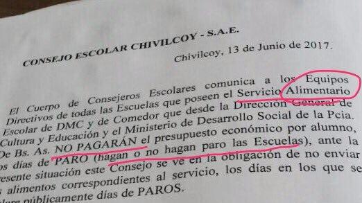 Photo of Inaudito: Vidal no dará de comer a los chicos los días de Paro