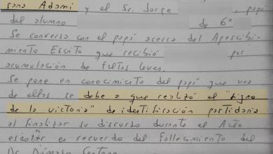 Photo of CLIMA DE ÉPOCA: sancionaron a alumno de secundario por hacer la «V de la victoria»