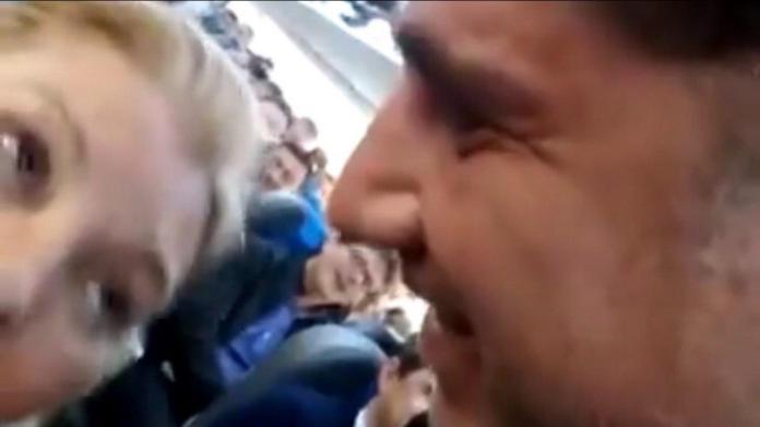 La inestable diputada cambiemita fue increpada por un ciudadano en pleno vuelo, de regreso de la provincia mediterránea.
